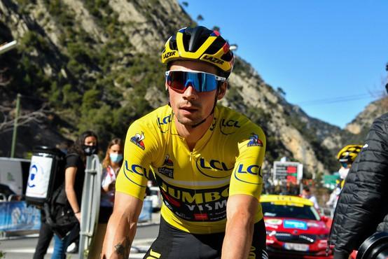 Roglič na zlato obarvanem kolesu zmagal v vožnji na čas in tretjič osvojil Španijo