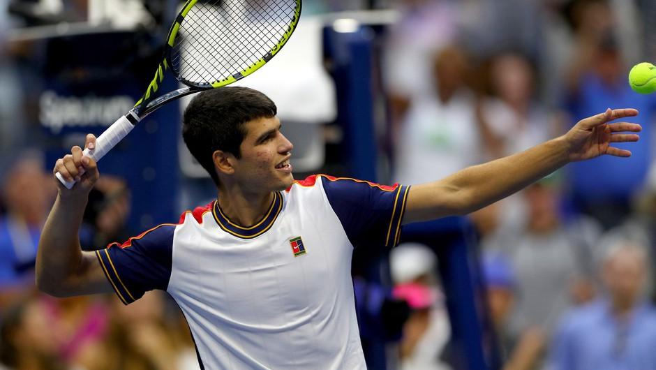 Nova zvezda je rojena - Carlos Alcaraz v četrtfinalu US Opna (foto: Profimedia)