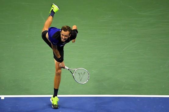 Medvedjev ustavil Đokovića in v ZDA osvojil prvi turnir velike četverice
