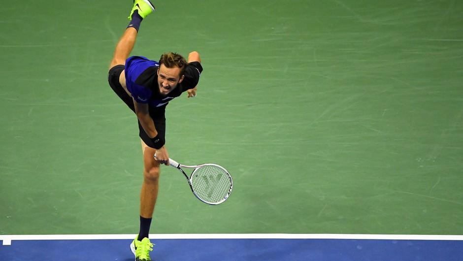 Medvedjev ustavil Đokovića in v ZDA osvojil prvi turnir velike četverice (foto: profimedia)