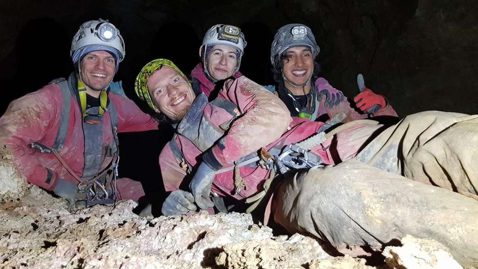 Slovenski jamarji presegli globino 1000 metrov (foto: Društvo za raziskovanje jam Ljubljana)