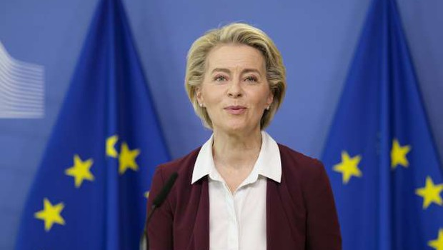 Von der Leynova napovedala boljšo pripravljenost EU na pandemije (foto: Thierry Monase/STA)