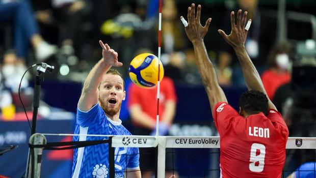 Slovenski odbojkarji premagali svetovne prvake in se uvrstili v finale EP (foto: profimedia)