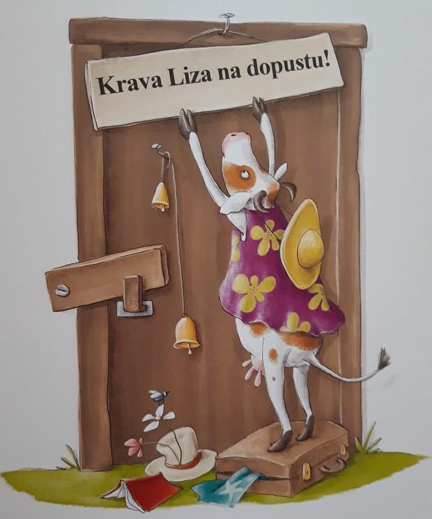 Krava Liza na dopustu (zabavna in poučna slikanica Mojiceje Bonte) (foto: Chiara)