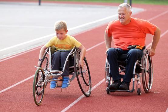 Prijetno popoldne v družbi športnikov invalidov v Mengšu