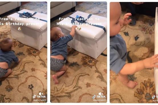 Malček je za darilo dobil kužka, njegova reakcija navdušenja pa je ljudi spravila v solze