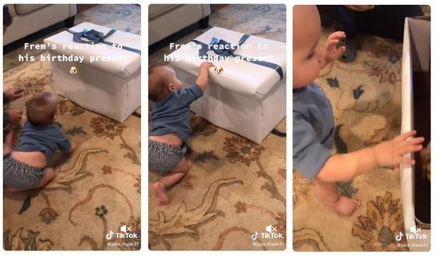Malček je za darilo dobil kužka, njegova reakcija navdušenja pa je ljudi spravila v solze (foto: Prinskrin TikTok)