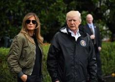 Trump naj bi okaral Melanio zaradi jakne z napisom Ni mi mar