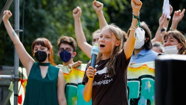 »Bla, bla, bla,« je jasna Greta Thunberg (ali: kdo sploh določa globalno okoljsko politiko) (foto: profimedia)