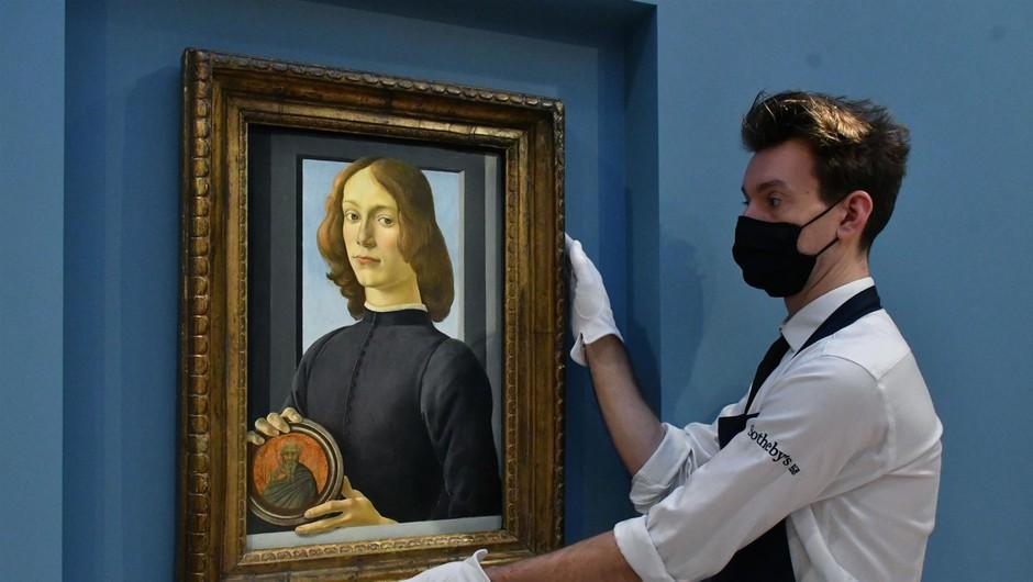 Botticellijev Človek žalosti na dražbi z izklicno ceno 40 milijonov dolarjev (foto: profimedia)