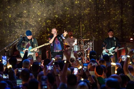 Na turneji skupine Coldplay se bo del razsvetljave napajal iz kinetične energije avditorija