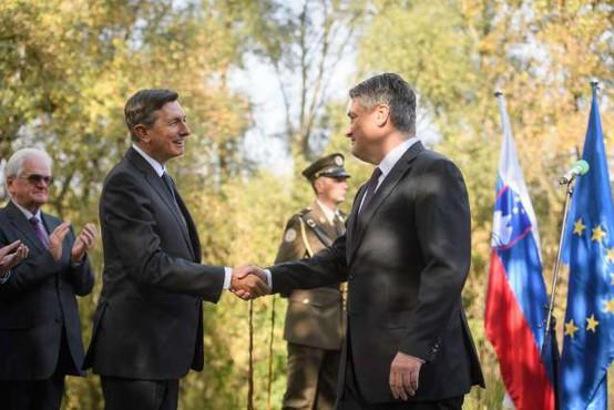 Pahor in Milanović v Zagrebu odkrila doprsni kip Prešerna